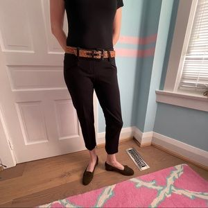 Jules & Leopold black pull on crop pants